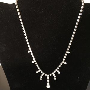 Short Rhinestone Necklace. Add this to your bundle
